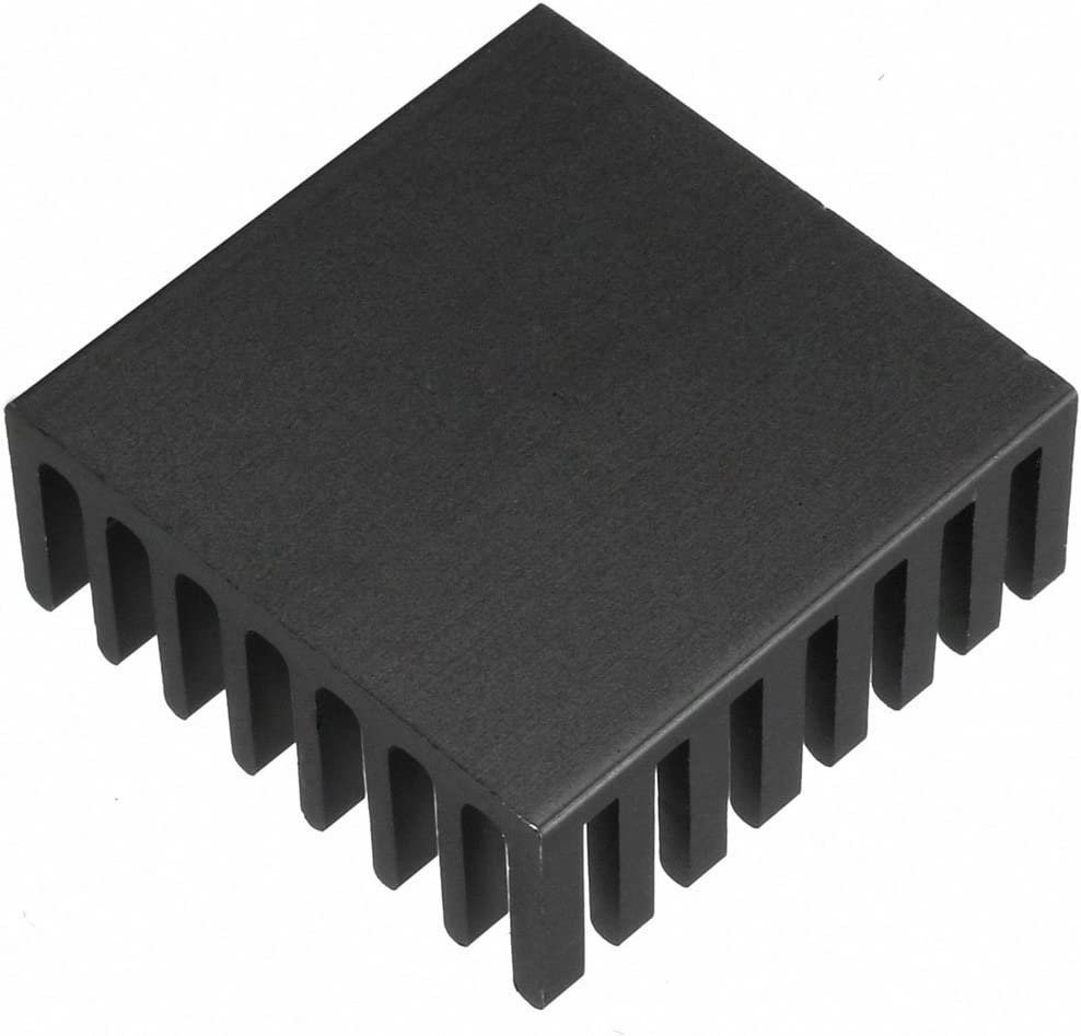 uxcell Aluminum Heatsink Cooler Circuit Board Cooling Fin Black 20mmx20mmx6mm 5Pcs for Led Semiconductor Integrated Circuit Device