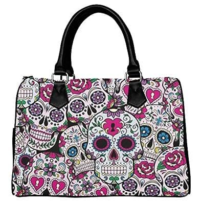 D-Story Custom Handbag Sugar Skull Handbag /Tote Bag /Shoulder Bag for Women