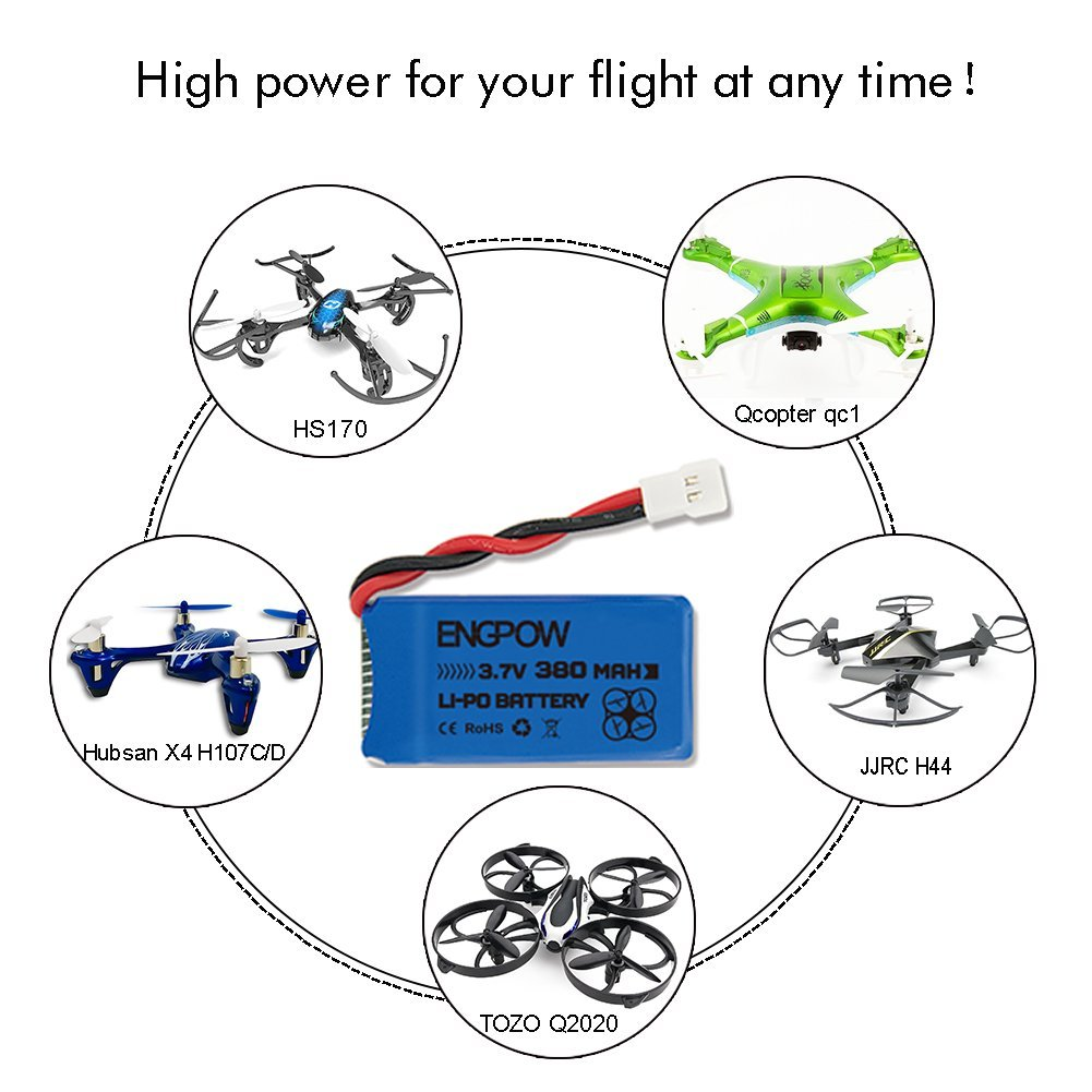 37v 380mah Lipo Battery X4 Charger Controller Hubsan Wiring Diagram Drone Hs230 Gblife Bounce Car Tozo Q2020 H107c H107l H107d H107p H108 Holy Stone