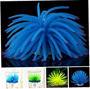 Artificial Luminous Sea Urchin Ball Silicone Coral Fish Tank Aquarium Decoration Random Color