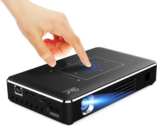 AI LIFE Mini proyector Proyector portátil Panel táctil Smart Mini Pocket Projector TV Slim inalámbrico Proyector Baterías incorporadas para Fiestas de Juegos de Entretenimiento de Cine en casa: Amazon.es: Hogar