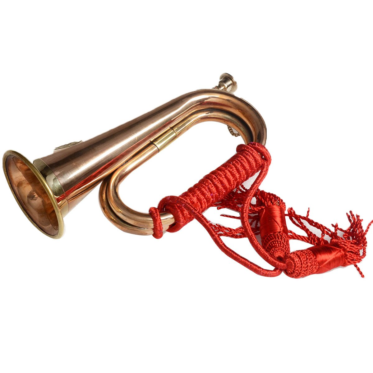 Ectoria EC12-018.CU9 CSA Real Copper Boy Scout Bugle Horn- Red Rope