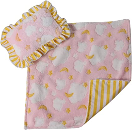 doll bedding for 18 inch american girl blanket pillow set big flower pink 17