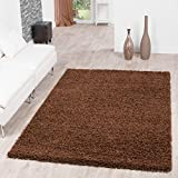 Shaggy Carpet High Pile Long Pile Rug Living Room PREISHAMMER in one. Customise Your Can Colour., brown, 160 x 220 cm by T&T Design