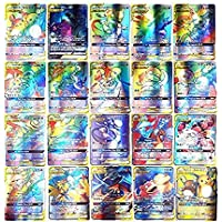 Cartas Pokemon, AUMIDY 100 Piezas Poke-Mon Cartas, 95GX Cartas + 5Mega Cartas, Poke-Mon Trading Cards, Tarjetas de Poke…