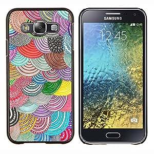 Stuss Case / Funda Carcasa protectora - Beret colorido Diy Arte - Samsung Galaxy E5 E500