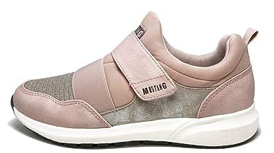 Mustang Zapatillas de Material Sintético para Mujer Rosa Rosa (b): Amazon.es: Zapatos y complementos