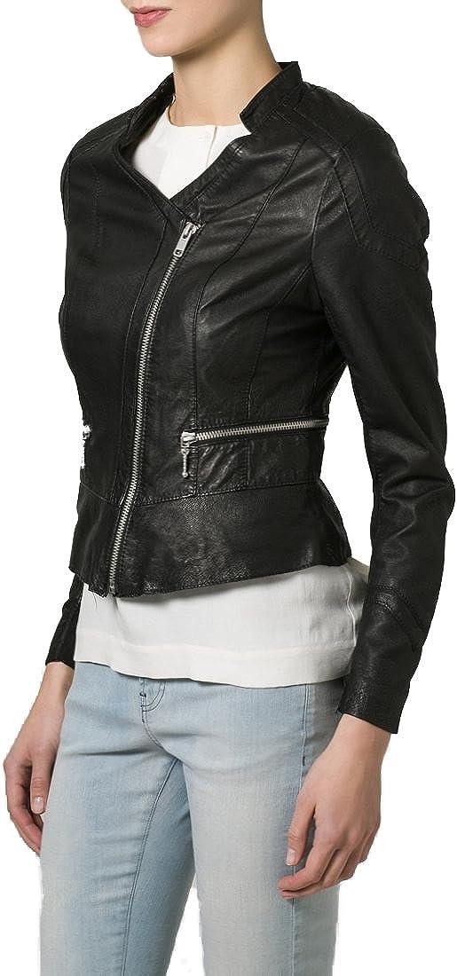 Kingdom Leather New Women Motorcycle Lambskin Leather Jacket Coat Size XS S M L XL XW122