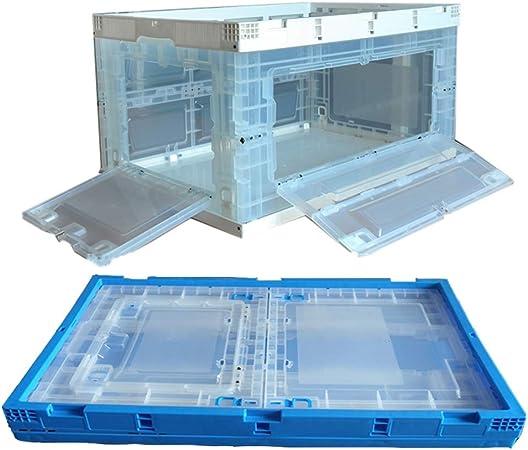 Cajas De Almacenaje, PP/TPE Puerta Transparente Con Tapa Plegable De Plástico Caja De Plástico Inicio Almacén Multifuncional De Almacenamiento Caja De Almacenamiento Logística De Rotación Cesta: Amazon.es: Hogar