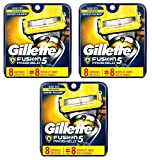 Gillette Fusion Proshield Cartridges, 8 Ct (Pack of 3) + FREE Eyebrow Razor, 3 Ct.