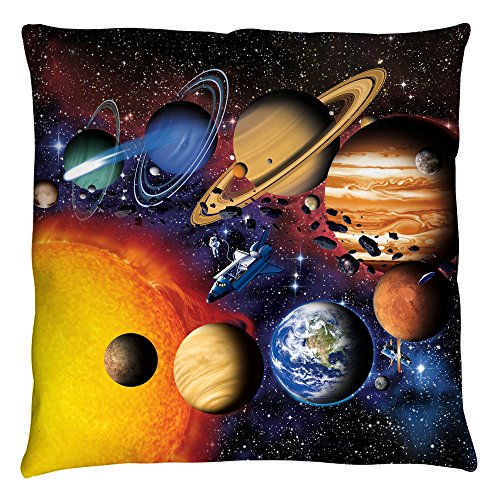 Solar System Planets Group Shot Outer Space Throw Pillow by 2Bhip