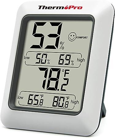 ThermoPro TP50 Termómetro Higrometro Digital para Interior