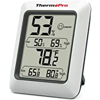 ThermoPro TP50 Digital Hygrometer Indoor Thermometer Room Thermometer and Humidity Gauge with Temperature Humidity…