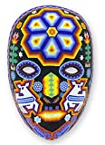 NOVICA Decorative Huichol Papier Mache Mask, Multicolor 'Shaman Deer'