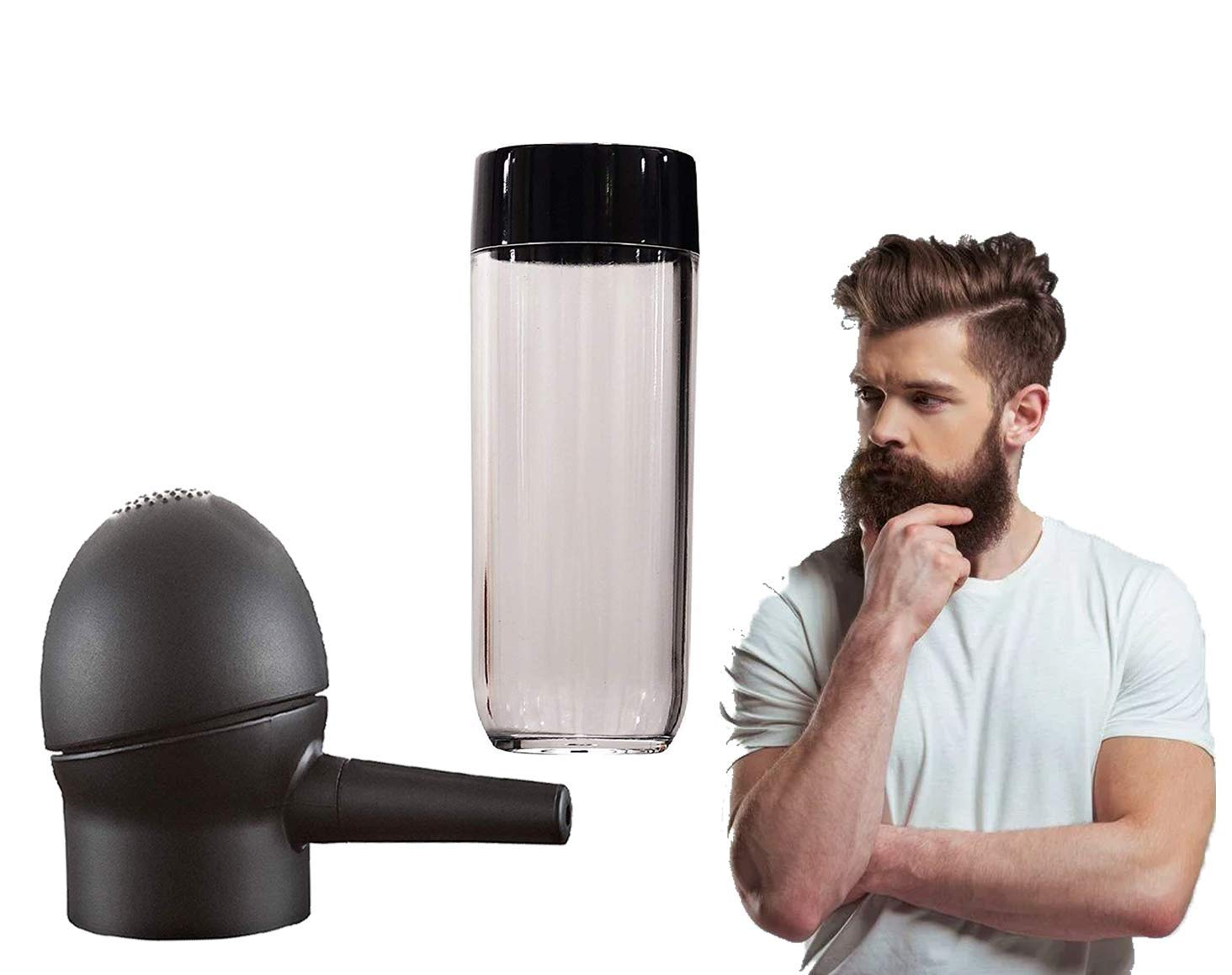 Iyaan Hair Fiber Spray Applicator For Men And Women For Home And Salon Use 20 Grams Black Pack Of 1