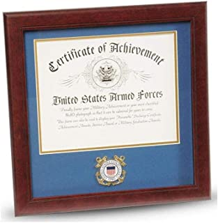 product image for flag connections United States Coast Guard Certificate of Achievement Frame with Medallion - 8 x 10 inch