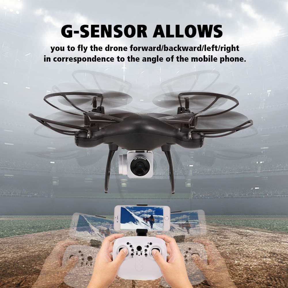 Goolsky X180HD RC RC RC Drohne Quadrocopter mit 720P Wifi FPV Kamera Unterstützung 20 Minuten Flug/Höhe Halten/One Key Return/Start/Landung/3D-Flips/360 ° Rotatio/G-Sensor 4f1151