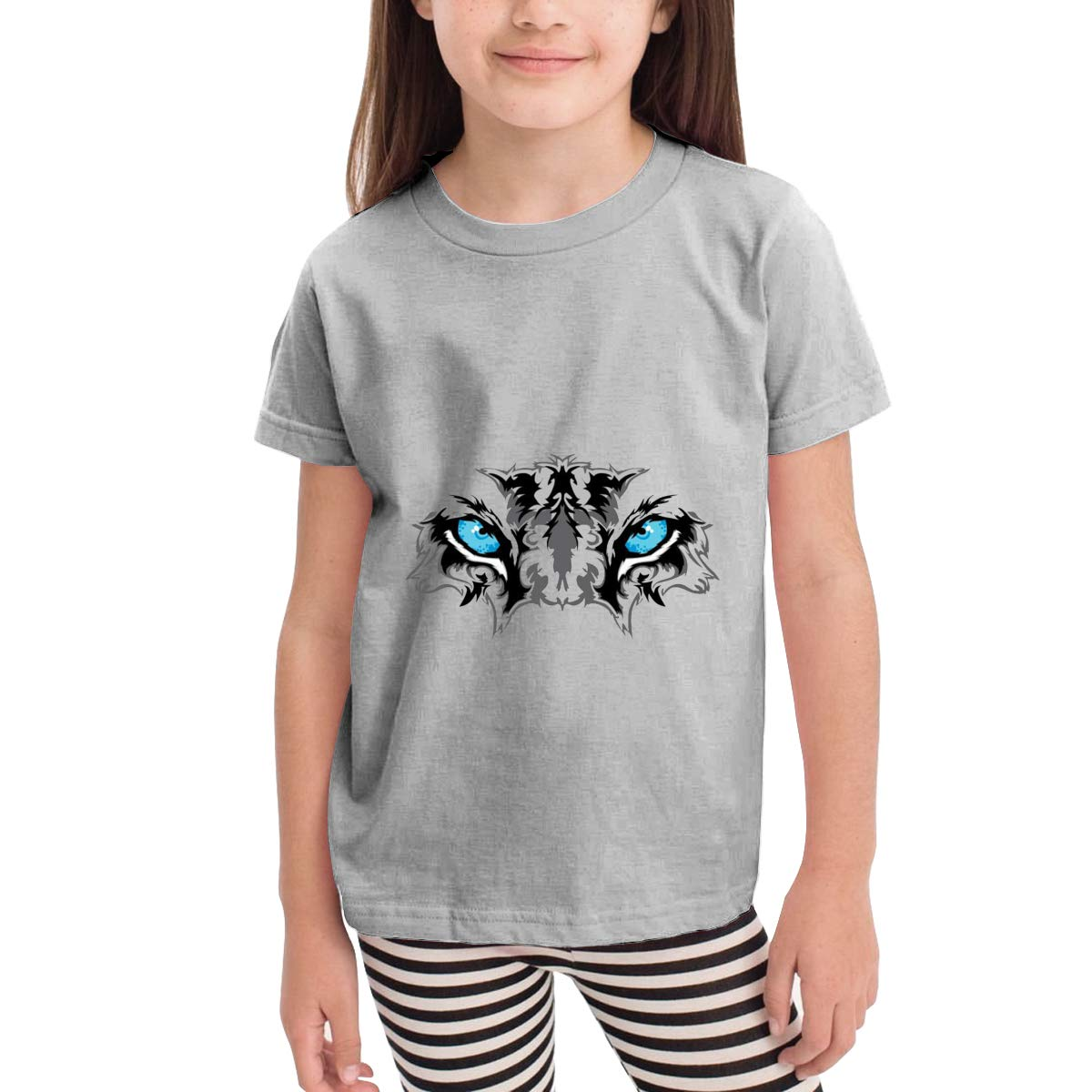 Blue Eye of The Tiger 100/% Cotton Toddler Baby Boys Girls Kids Short Sleeve T Shirt Top Tee Clothes 2-6 T