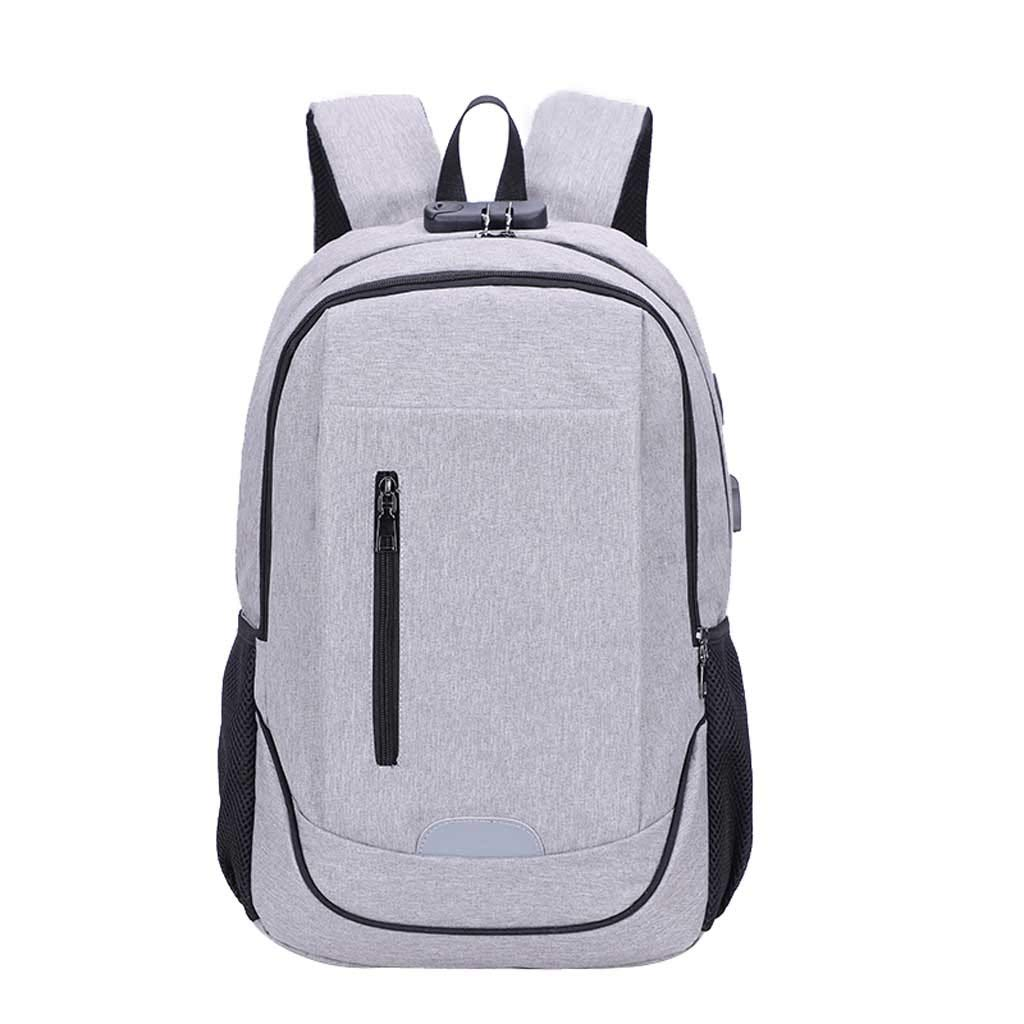 Unisex Business USB Charging Backpack Large Capacity Travel Password Tote