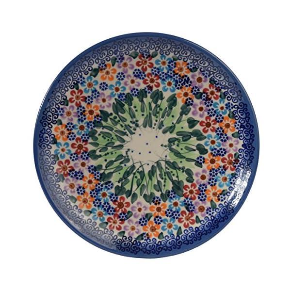 Traditional Polish Pottery, Handcrafted Ceramic Dessert Plate 19cm, Boleslawiec Style Pattern, T.102.Daisy