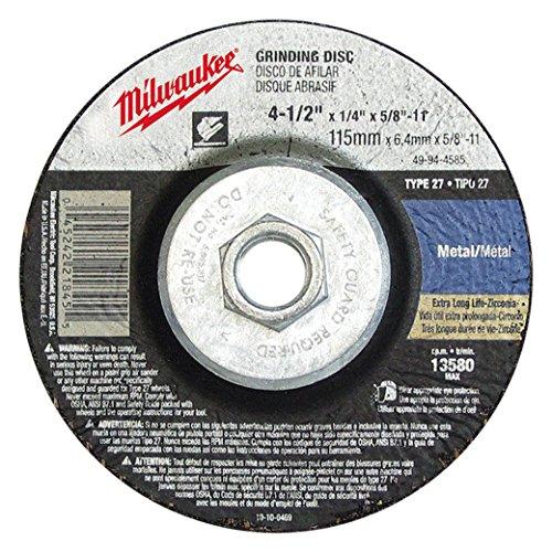 (Milwaukee Electric Tool 49-94-9085 - Depressed Center Wheel - 5/8-11 Threaded Arbor, 9 in Wheel Dia, Type 27, 24 Grit, 6600 rpm)