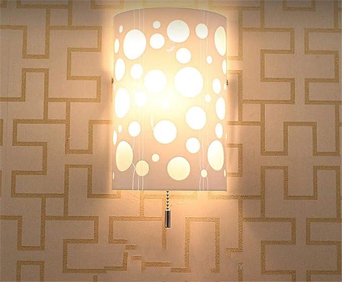Semplice moderna lampade da parete matt camera da letto luce del