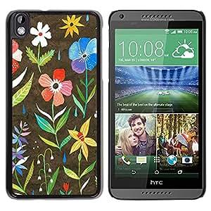 "Pulsar Snap-on Series Teléfono Carcasa Funda Case Caso para HTC DESIRE 816 , Primavera Blooming trullo Rosa Amarillo"""