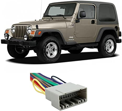 Jeep Wrangler 1997-2002 Factory Stereo to Aftermarket Radio Harness Adapter