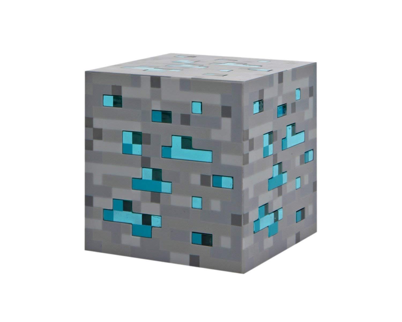 Minecraft ThinkGeek Light-Up Blue Stone Diamond Ore - Sure to Keep Pigmen Away