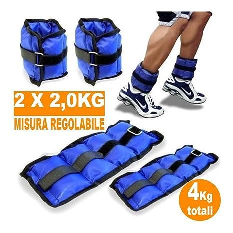 molti alla moda miglior servizio tecnologia avanzata TrAdE Shop Traesio- Pesi Caviglie Polsi CAVIGLIERA Sport Arti Marziali  Fitness CAVIGLIERE Peso 4 kg