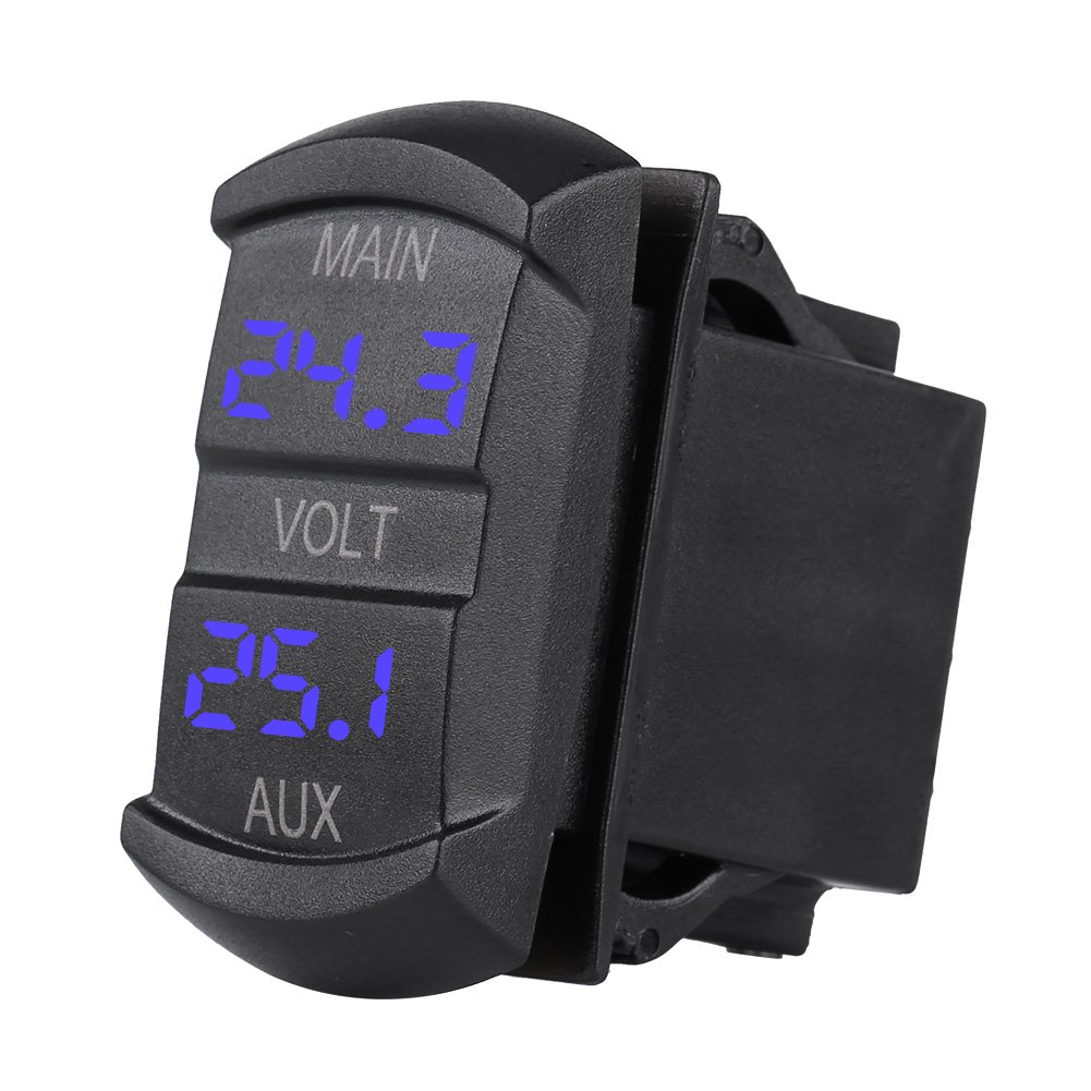 Qiilu DC 24 V Universal Digital LED Panel Volt/ímetro Voltaje Pantalla para Coche Motocicleta ATV