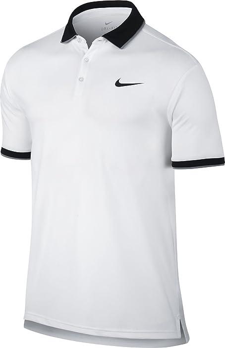 bc8b0d91b Amazon.com: Nike Court Men's Tennis Polo Style: 644776 (White/Black ...