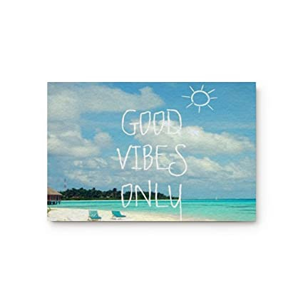 Amazon Ezon Ch Good Vibes Only Doormat Quotes Modern Non Slip