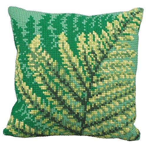 - Collection D'Art Green Fern Pillow Cover Needlepoint Kit
