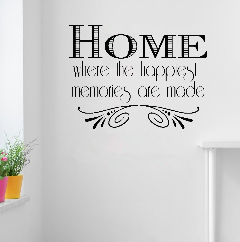 Amazon com vinyl stickers wall home decor wall decor art sticker home decals home is where love resides memories are created home kitchen