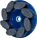 PFERD 83973 M-Brad Standard Density Composite Disc Brush, Silicon Carbide, 8'' Diameter, 0.045 x 0.090 Rectangular Filament, 1800 rpm, 120 Grit