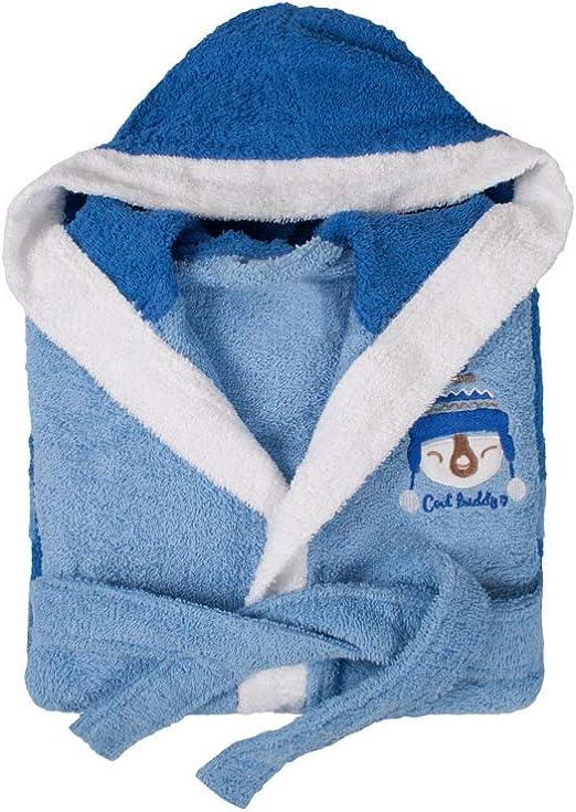 Dolz - Albornoz Infantil Rizo Buddy Azul - con Capucha - 14/16 ...