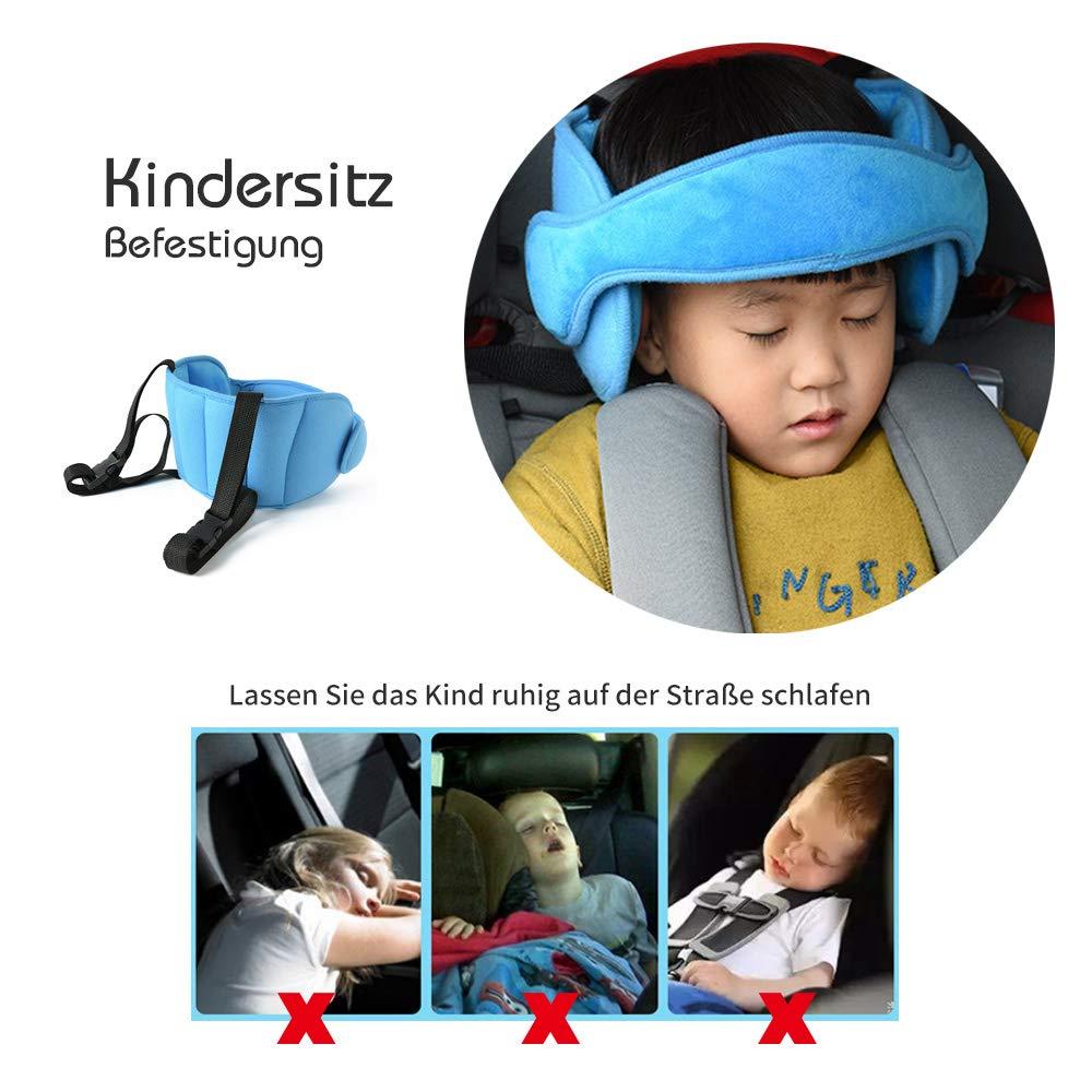 sangles de si/ège de voyage r/églables Kobwa Support de t/ête de si/ège de voiture pour enfant ceinture de protection confortable et s/ûre pour b/éb/é endormi