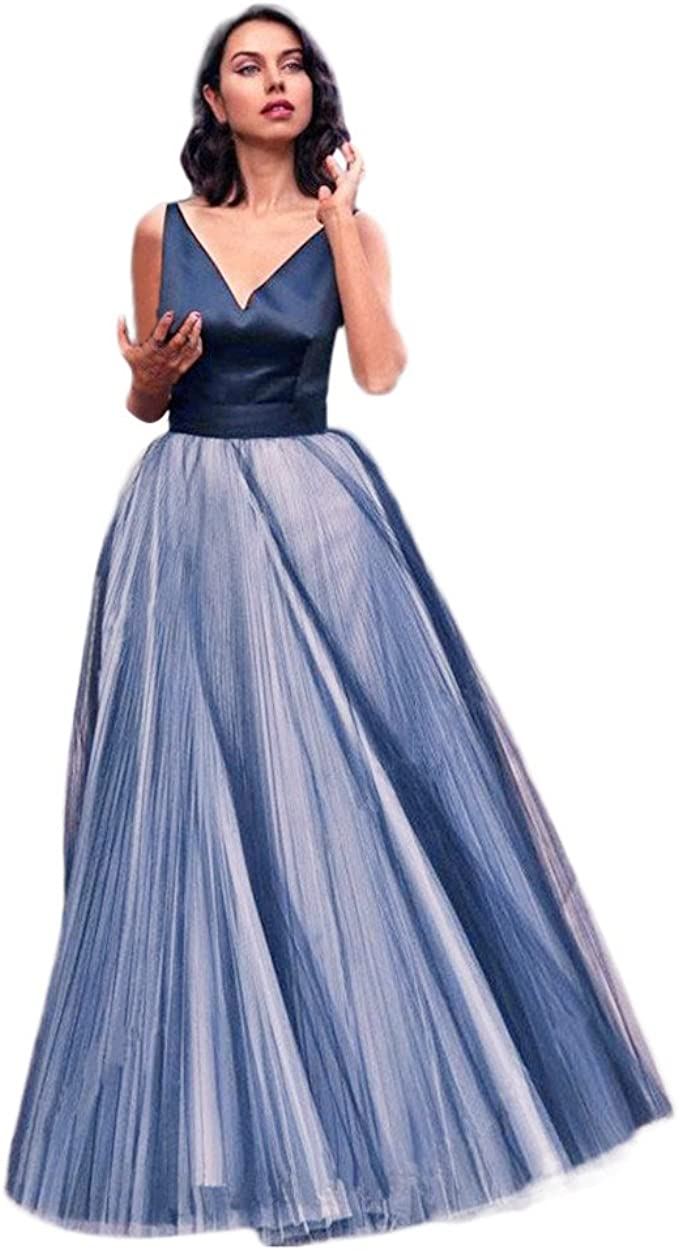 MIRRAY Damen Ballkleid Lang Abendkleider Prinzessin Kleid V