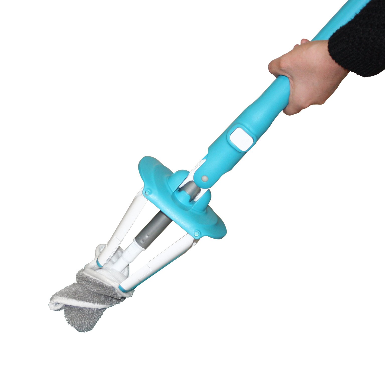 Vigor 320064Twist' O Flat Mop with Wringing Plastic Grey 68x 18.5x 9cm