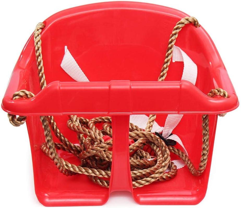 Silla Hamaca For niños oscilación Ajustable Asiento al Aire Libre Que acampa Portable Hamaca Colgante Presidente para Todos los Espacios Interiores o Exteriores (Color : Red, Size : 28x17x26cm)