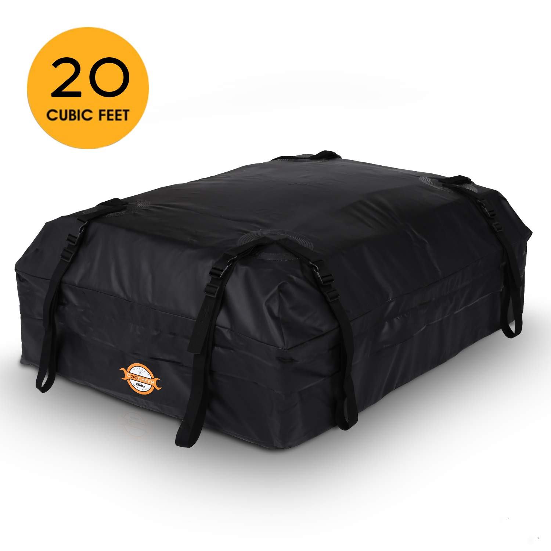 Viaggi Automobili Furgoni Sailnovo Box da Tetto Auto Impermeabile 16,7 Ultimi Modelli Suvs Borsa Portapacchi Tetto 16,7 Piedi Cubici Universale Morbido Trasportatori di Carichi per Auto
