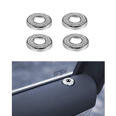 Thor-Ind Car Inner Door Lock Pin Cover Trim for Porsche Panamera Cayenne Macan Door Bolt Door Lock Pin Knob Button Cover Cap Sticker Diamond Decoration (Door Lock Pin): Automotive