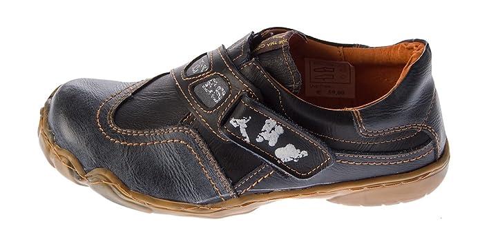 Donna Vera Pelle Scarpe Comfort TMA 1901Scarpe Basse Slipper Molti Colori Scarpe Sport Sneakers Used Look, Rosso (Rot), 36