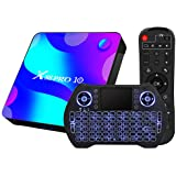 Android TV Box 11, RK3318 USB 3.0 Ultra HD 4K HDR 4GB RAM 64GB ROM 2.4G 5.8G Dual Band WiFi with BT 4.1 WiFi 100M Ethernet wi