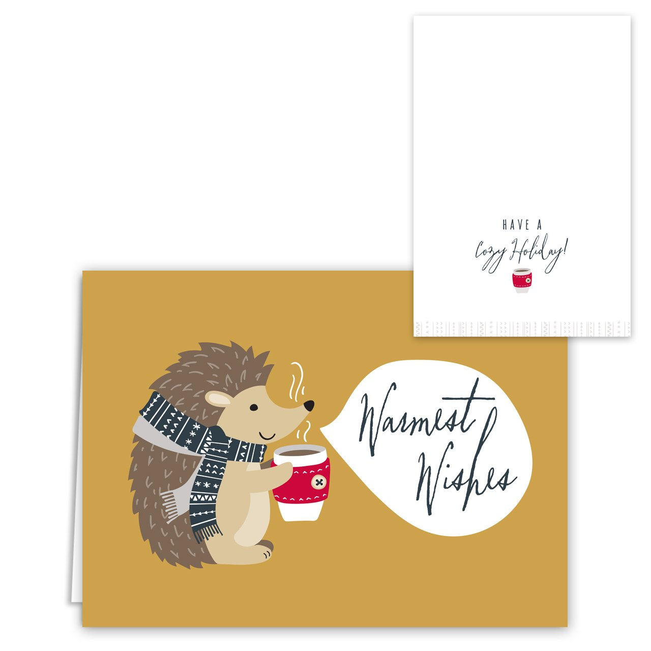 Woodland Animals Holiday Card Pack - Set of 36 cards - 6 of each design, versed inside with envelopes