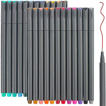 Best Choice for Noting//Writing//Drawing//Coloring Fine Point Pen Set 0.38 MM Fineliner Pens 10 Packs Fineliner Color Pens Set