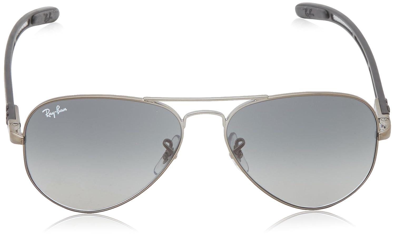 d724f2d535 Ray-Ban Men s RB8307-029 71 Aviator Carbon Fibre Oval Sunglasses ...