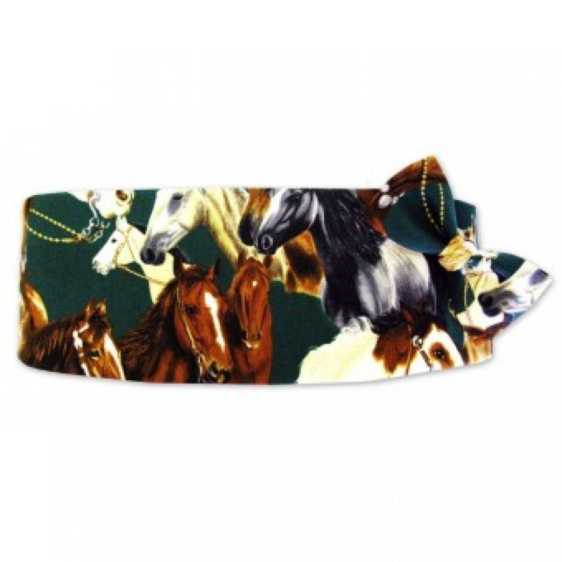 Thoroughbred Horse Tuxedo Cummerbund and Bow Tie
