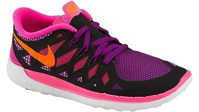 the latest 97864 81b58 Nike Free 5.0 (GS) Laufschuhe black-total orange-pink pow-bold